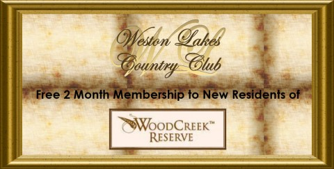 Country club trial membership for buyers of Woodcreek Reserve homes