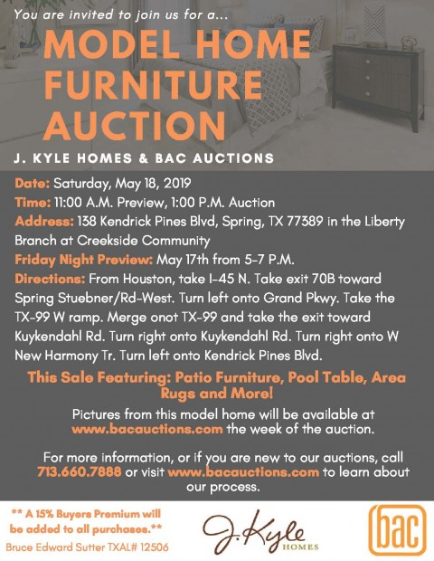 Model Home Furniture Auction Posted On May 13 2019 By Jennifer 19016
